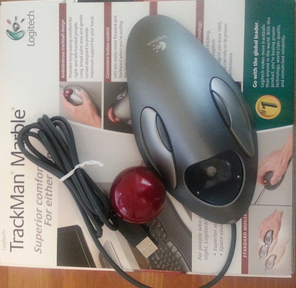 Logitech TrackMan Marble Mouse Separated